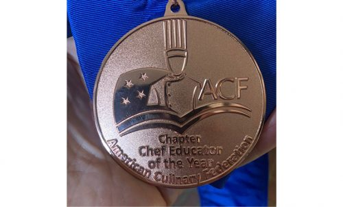 Jerry Dakan's Chapter Chef Educator of the Year Medallion