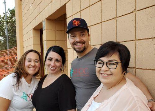 SFCC staff members Daniela Gurule, Danielle Gonzales , Marcos Maez and former Santa Fe HEC director Rebecca Estrada. Photo by Niki McKay