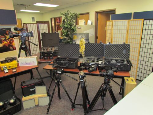 SFCC film equipment was on display at the Film Open House.